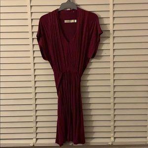 Short Wine Coloured Dress